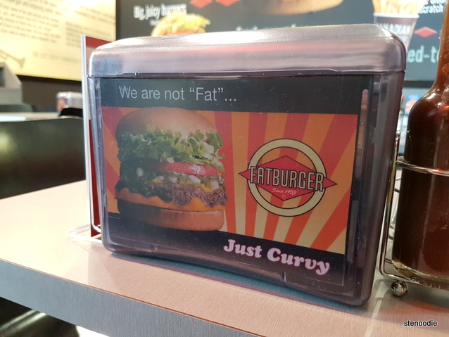 Fatburger napkin dispenser