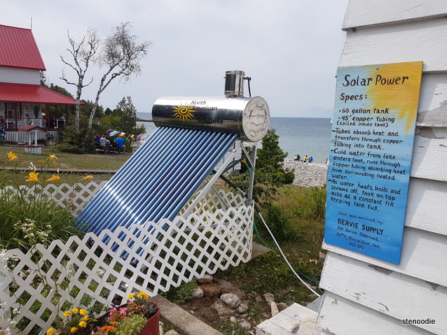 solar power on Flowerpot Island