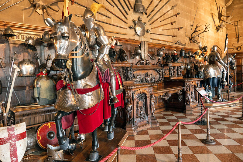 Armor on display at Warwick Castle. Credit Peter K Burian