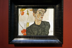 Schiele, Self-portrait