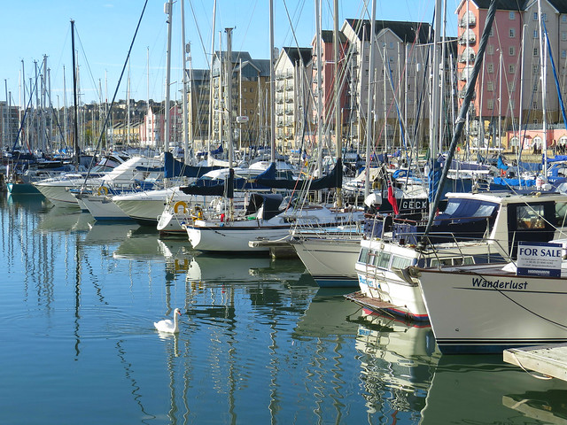 Portishead Quays Marina, Somerset, England.