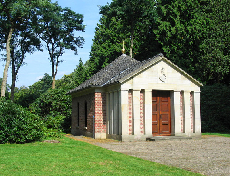 Mausoleum of Wilhelm II in the grounds of Doorn House, The Netherlands. Credit Basvb