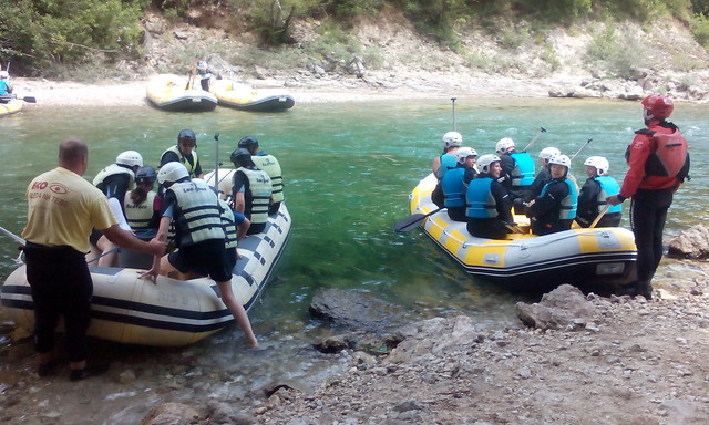 First rafting tour on the Neretva