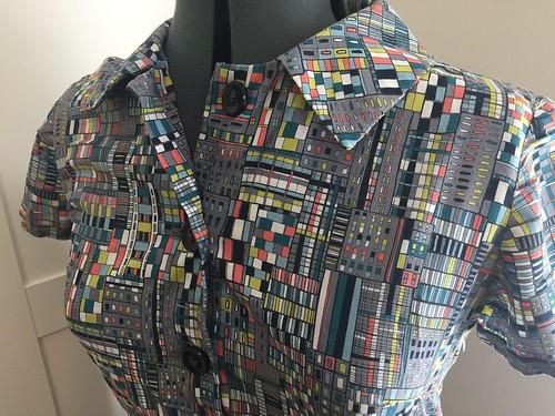 city windows shirtdress