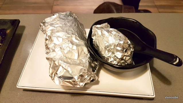 corn and broccoli in tin foil