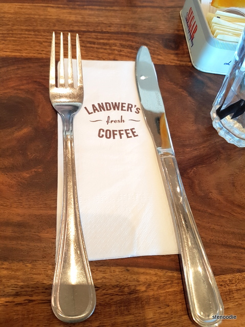 Cafe Landwer napkin