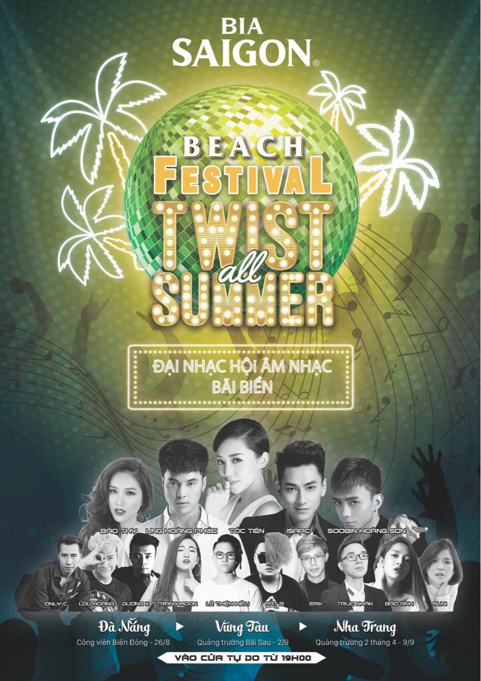 Beach Festival Twist all Summer - Bia Sài Gòn