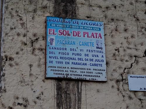 Bodega El Sol de Plata, Cañete