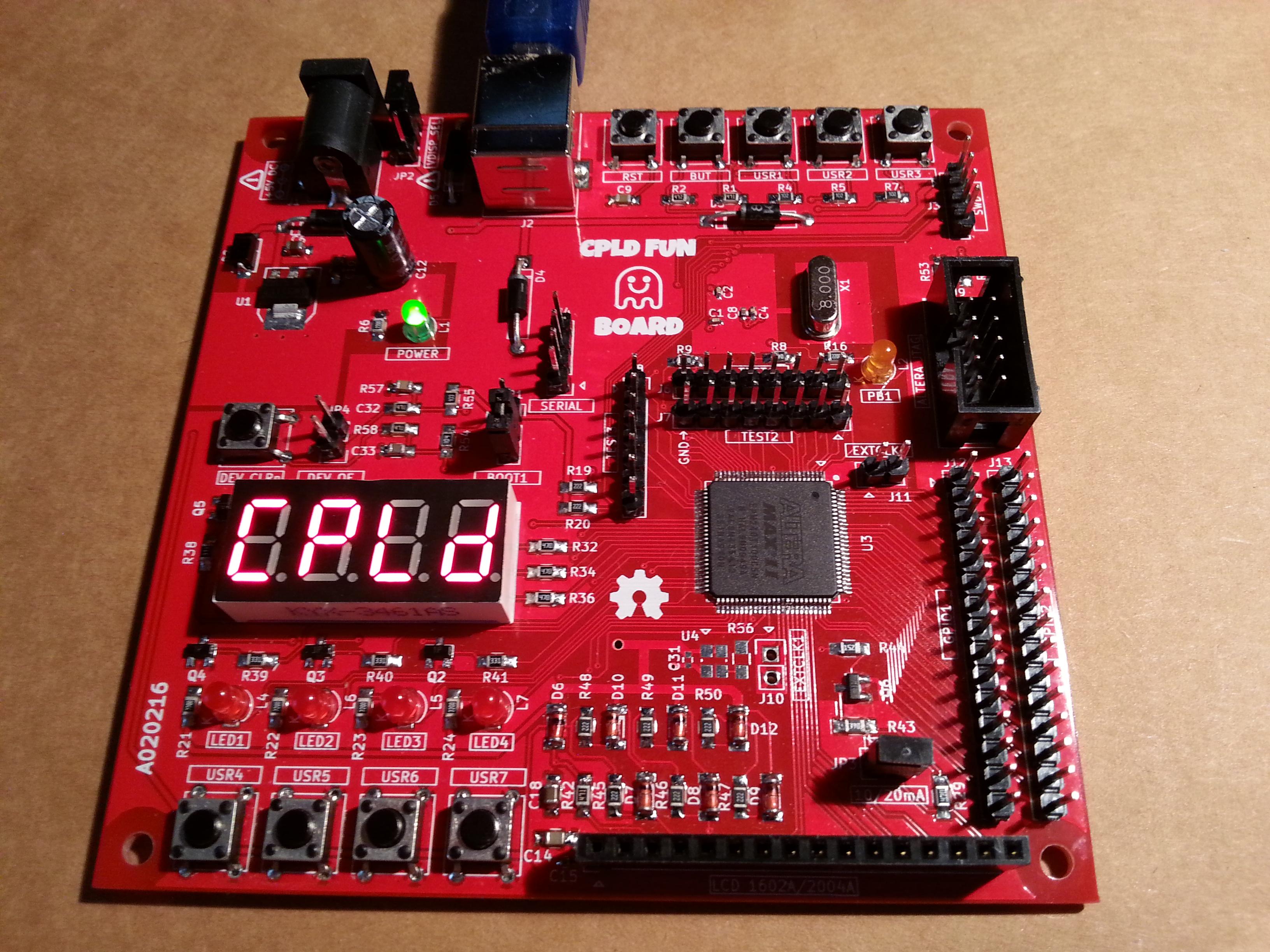 CPLD Fun Board: Arduino STM32F103 and Altera MAX II CPLD