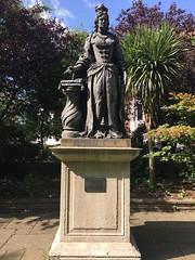Statue of Queen Charlotte originally misidentified as Queen Anne