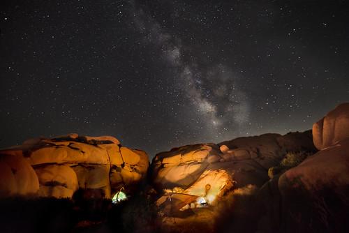 Milky Way over Jumbo Rocks Campground
