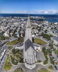 (#droneview) #Hallgrímskirkja | Situated in the centre of #Reykjavík, it is one of the city's best-known landmarks and is visible throughout the city. State Architect Guðjón Samúelsson's design of the #church was commissioned in 1937. He is said to have d