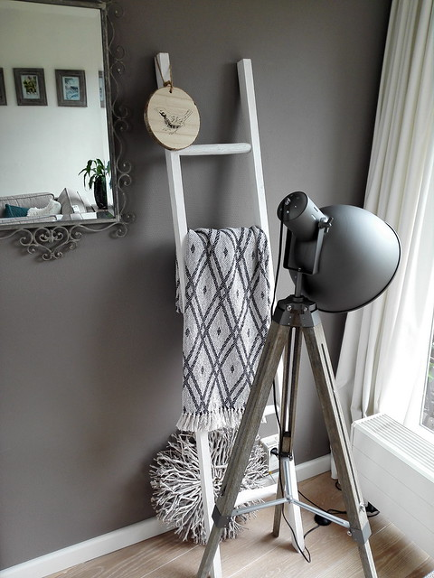 Decoratie ladder staande lamp