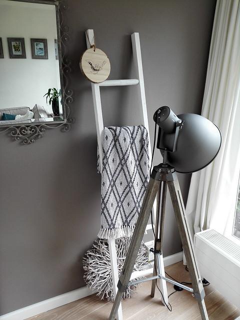 Decoratie ladder staande lamp