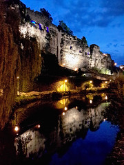 Casemates du Bock at dusk, Luxembourg City