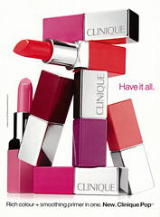 2015 Beauty Ad, Clinique Pop Lipstick