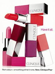 2015 Beauty Ad, Clinique Pop Lipstick