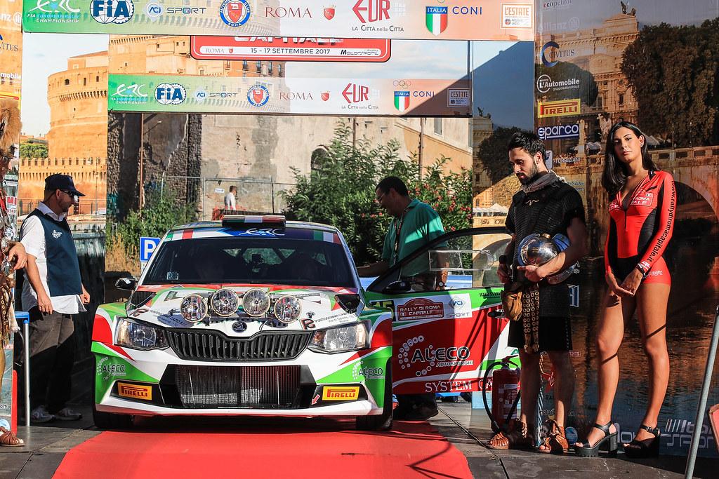 15 DI COSIMO Tonino (ITA) FRANCESCUCCI Paolo (ITA) Skoda Fabia R5 start during the 2017 European Rally Championship ERC Rally di Roma Capitale,  from september 15 to 17 , at Fiuggi, Italia - Photo Jorge Cunha / DPPI