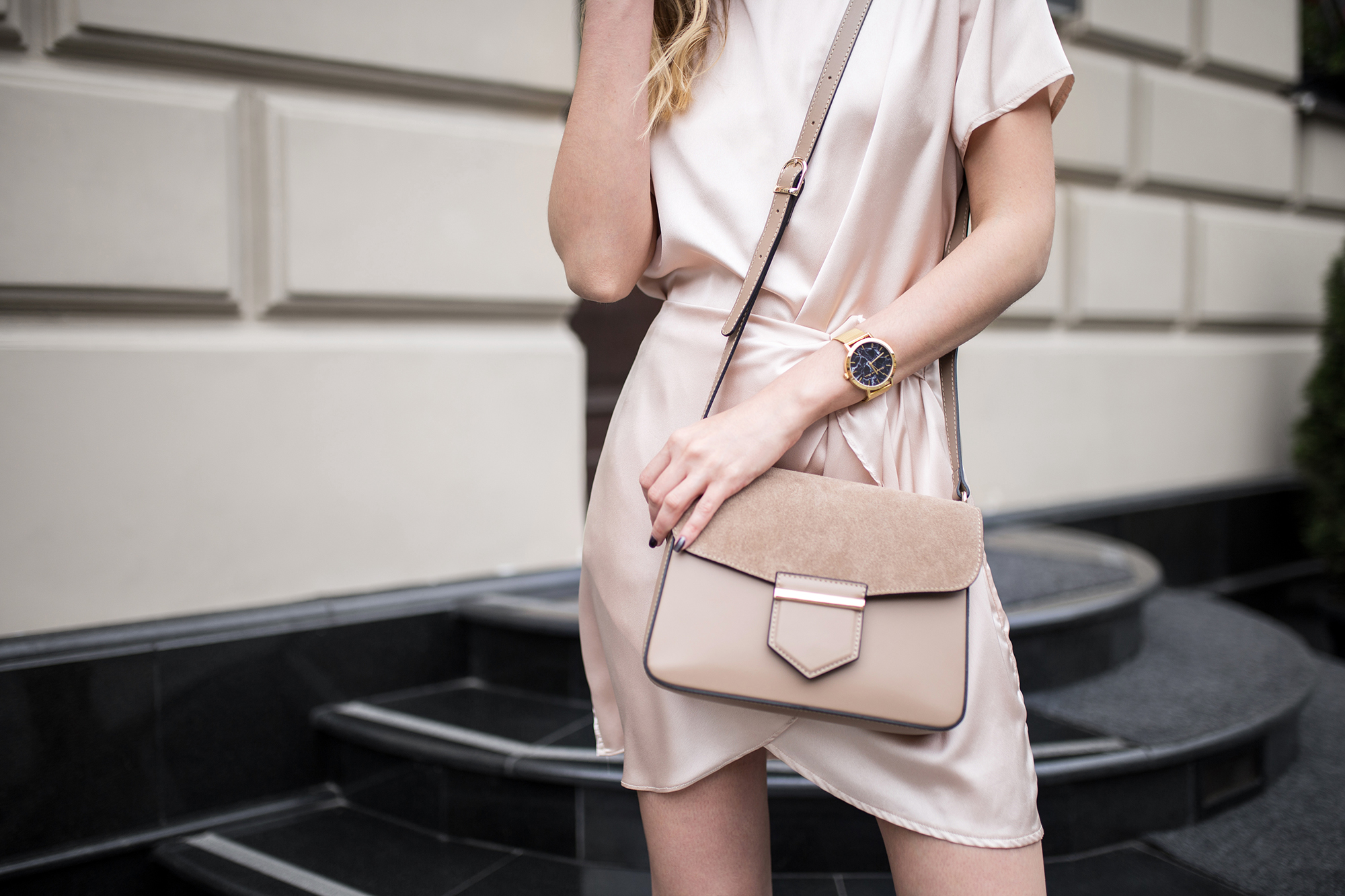 nude-beige-satin-dress-co-ord