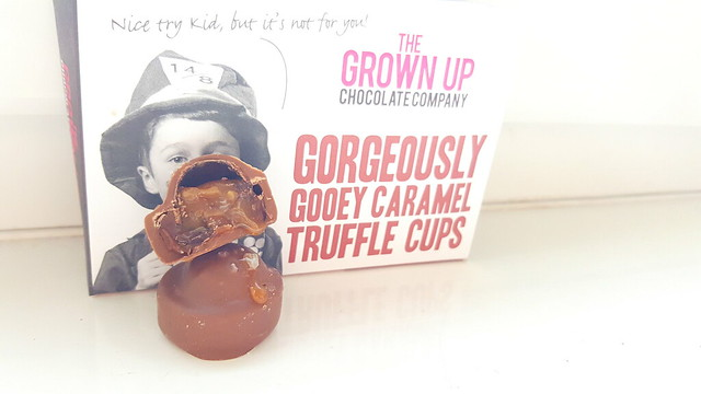 The Grown Up Chocolate Company Gorgeously Gooey Caramel Truffle Cups