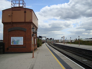 Water tower on the platform at Birmingham Moor Street station