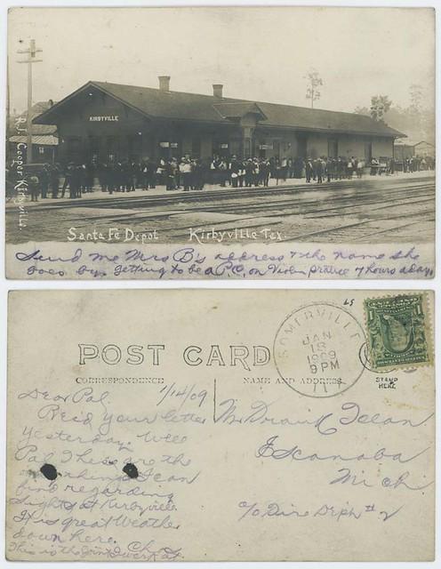Santa Fe Depot, Kirbyville, Tex.
