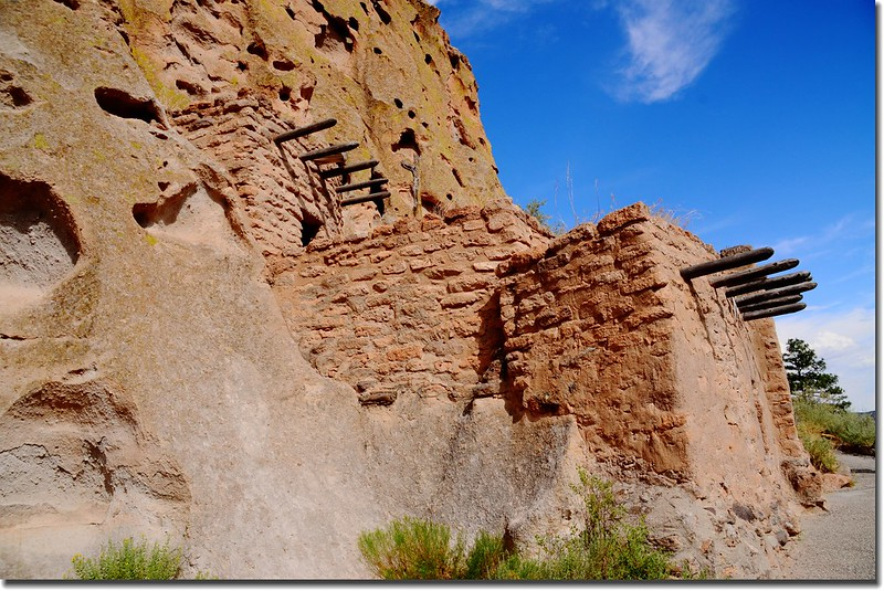 Reconstructed cliff house at Bandelier National Monument (2)