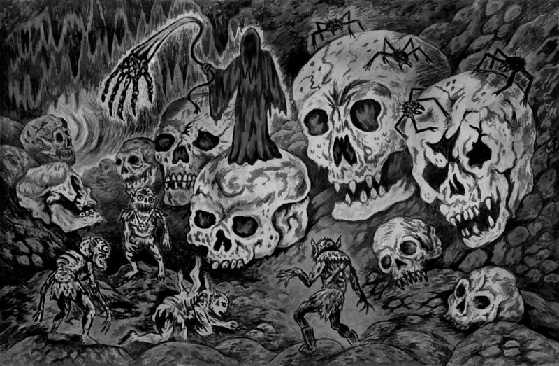 Aeron Alfrey - Hellionoids In The Hall Of Skulls copy