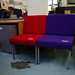 Purple wait room chair E45