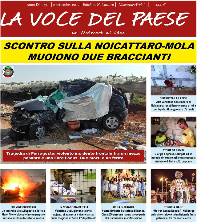 Noicattaro. Prima pagina n. 30-2017 intero