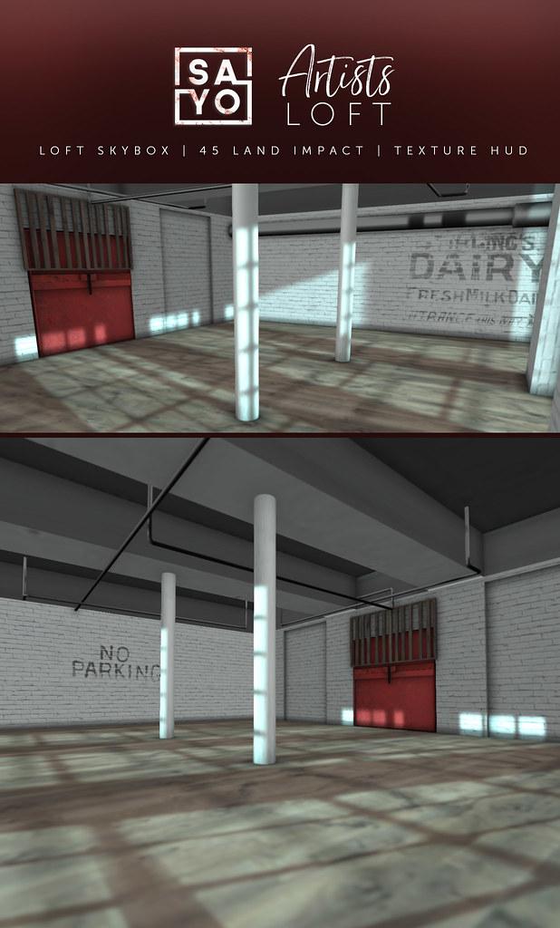 SAYO - Artists Loft Skybox @ Fameshed - SecondLifeHub.com