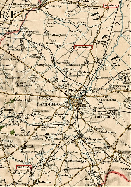 map Meldreth Cottenham