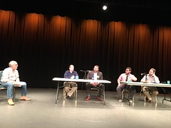 Doc Dawg moderating a panel at the Data & Democracy …