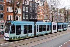 GVB Combino tram 2087, Lijn 14 | Rozengracht