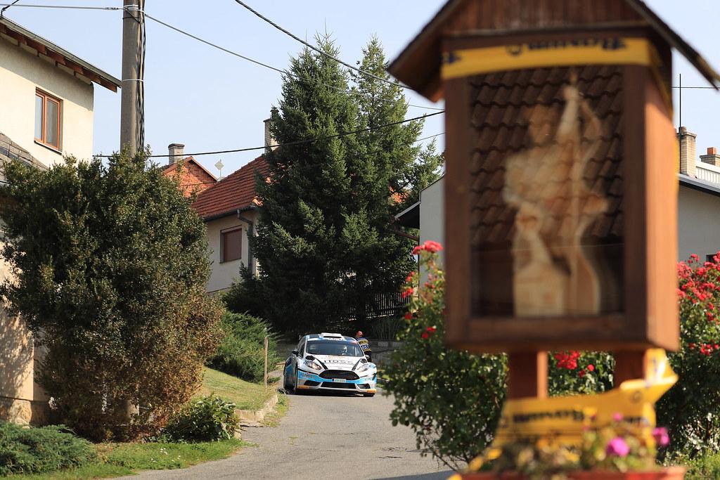 27 ODLOZILIK Roman (CZE) TURECEK Martin (CZE) Ford Fiesta R5 action during the 2017 European Rally Championship ERC Barum rally,  from August 25 to 27, at Zlin, Czech Republic - Photo Jorge Cunha / DPPI