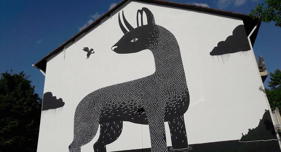Street art in Heidelberg: Metropolink | Mooistestedentrips.nl