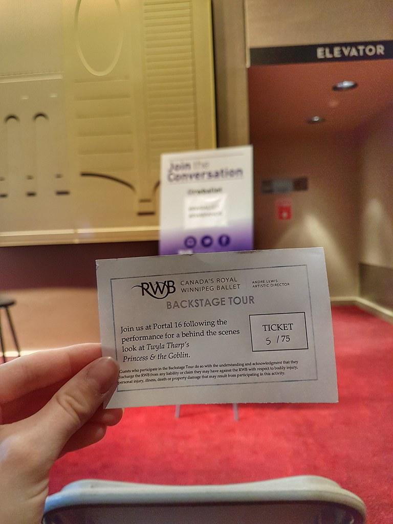 RWB Princess and the Goblin Backstage Tour ticket