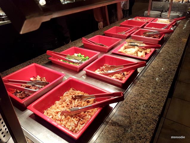 Genghis Khan Mongolian Grill hot buffet selection