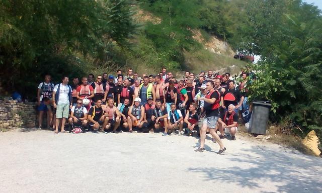 Full of rafting tour in Bosnia