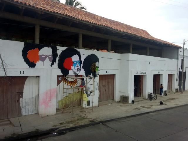 Arte de rua no bairro Getsemaní.