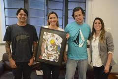 06/09/2017. Ana e Kalil com artistas do Grafitte. Fotos: Rodrigo Clemente/PBH