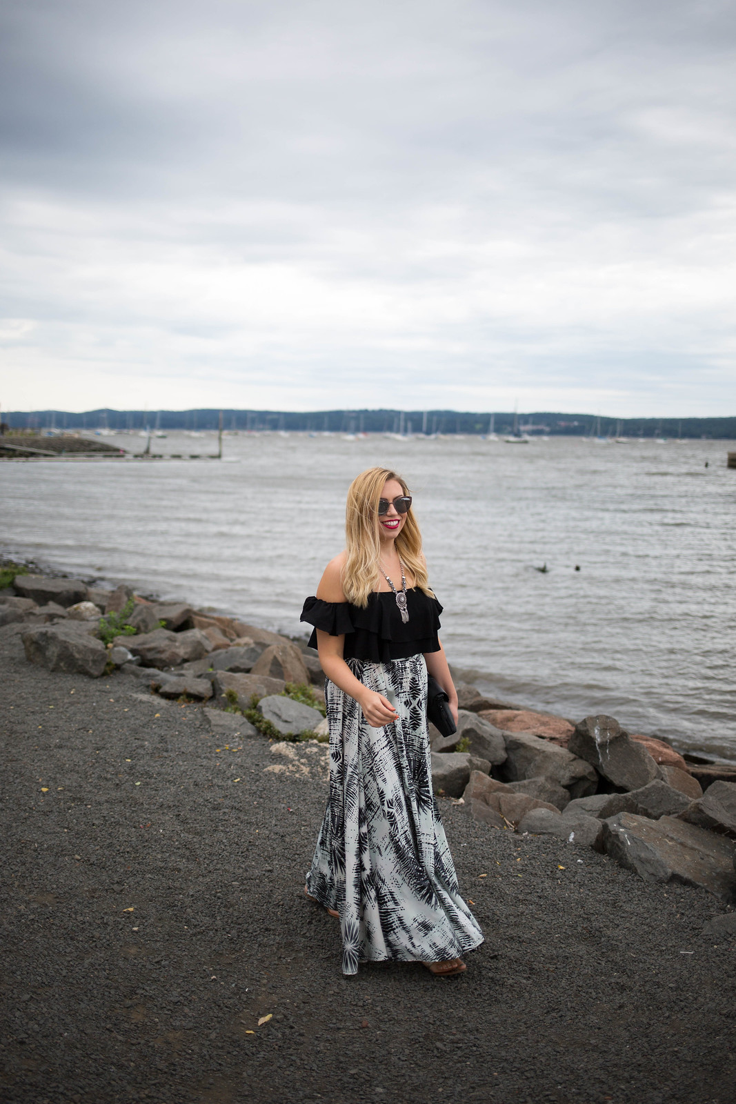 Black White Summer Outfit Waterfront Nyack NY Why Everyone Needs a Crop Top