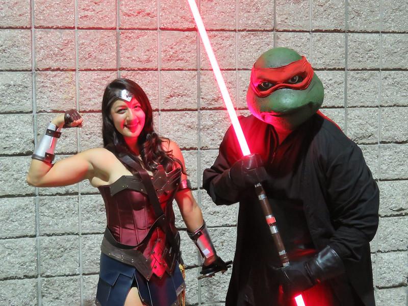 Wonder Woman and Darth Raphael