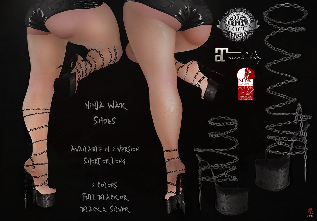 + Occult + Ninja War Shoes {Maitreya&Hourglass}THE CHAPTER FOUR - SecondLifeHub.com