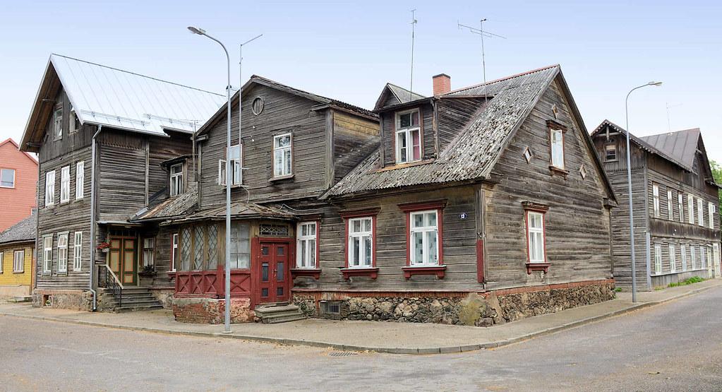 6665 Gruppe Historischer Holzhauser Mit Hinterhof Rohe Ho