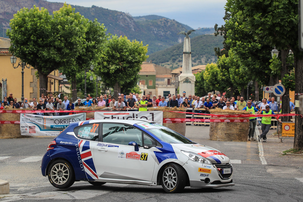 37 MUNNINGS Catie (GBR) STEIN Anne Katharina (AUT) Peugeot 208 R2 action during the 2017 European Rally Championship ERC Rally di Roma Capitale,  from september 15 to 17 , at Fiuggi, Italia - Photo Jorge Cunha / DPPI