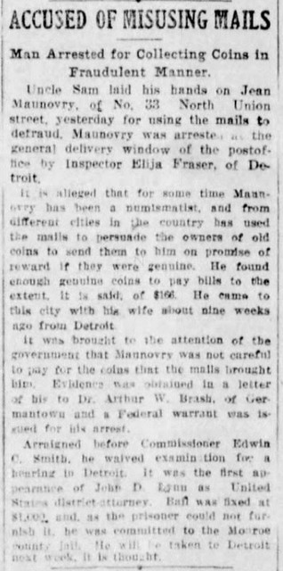 Maunovry ad Dem & Chron Sun 6 Dec 1914, 3