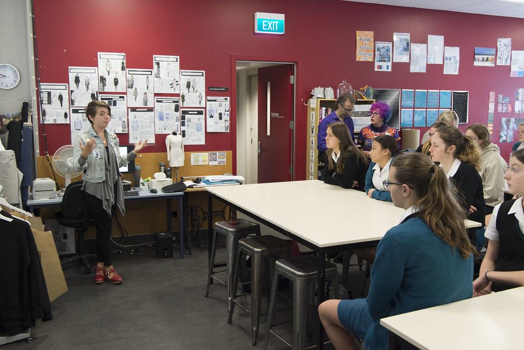 American WoW Designers visit Wellington Girls High School, September 22, 2017