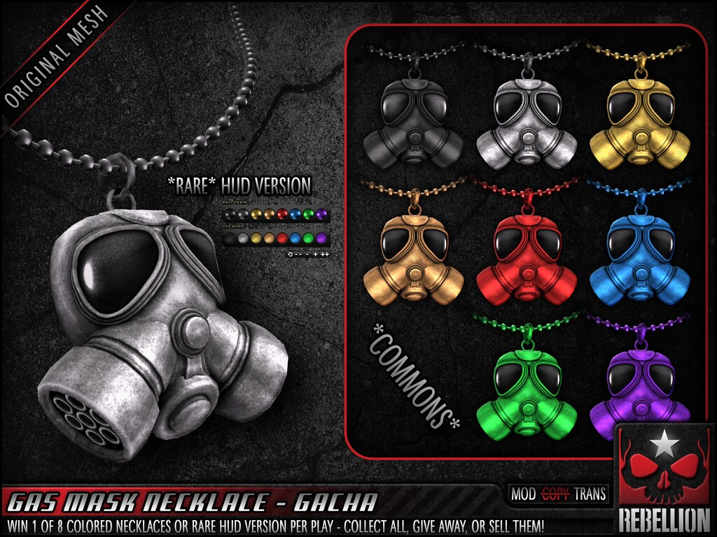 = REBELLION = GAS MASK NECKLACE - GACHA - TeleportHub.com Live!