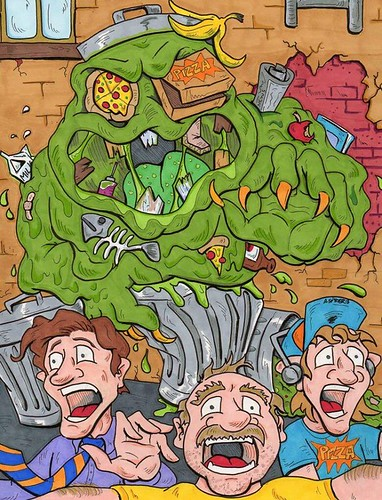 Trash monster by artist Anthony Snyder